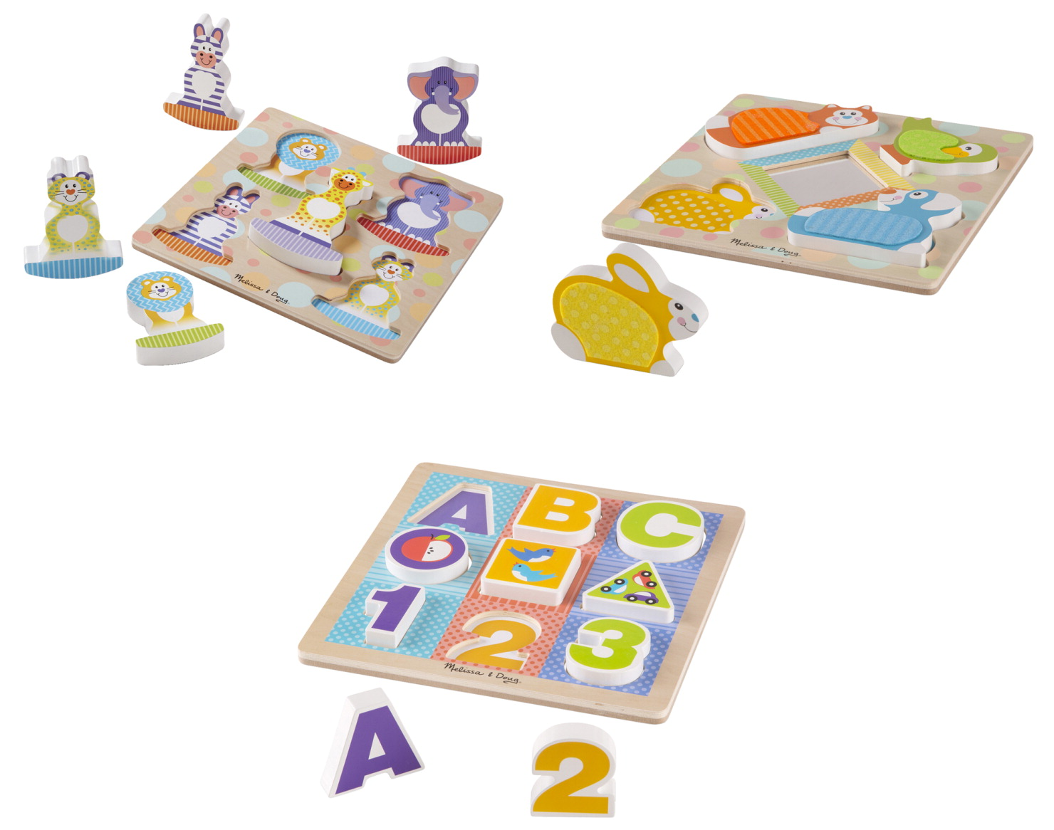 Melissa & Doug First Play Puzzles, Set of 3