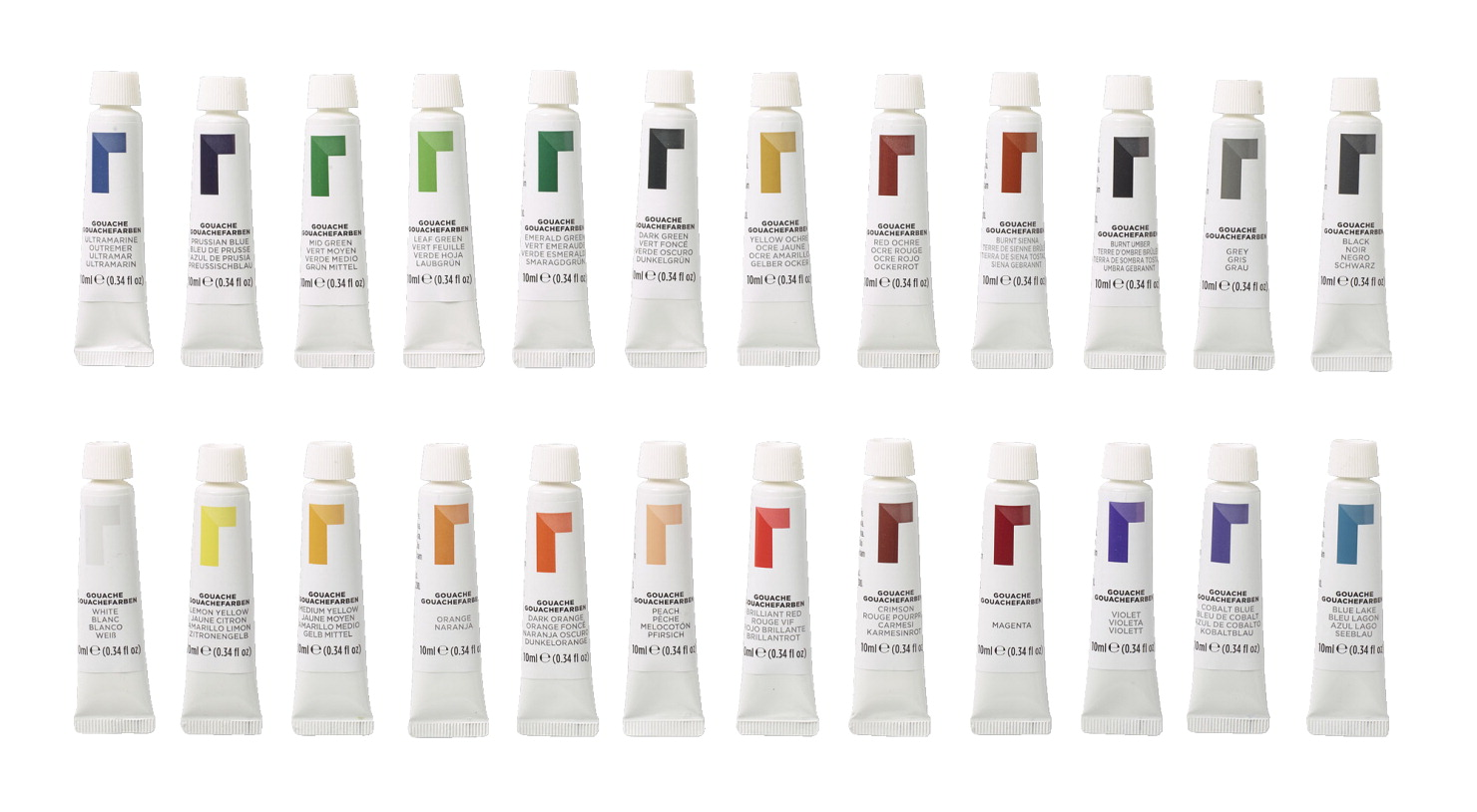 Reeves Artists Gouache Paints, 0 33 Ounce Tubes, Assorted Opaque Colors,  Set of 24