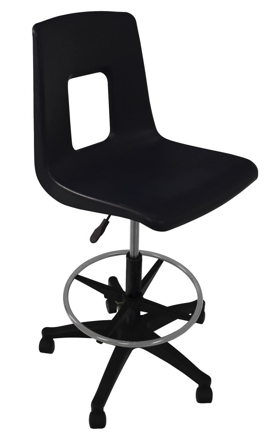 Classroom Select Traditional Pneumatic Lift Chair with Adjustable Foot Ring, A Shell, Various Options