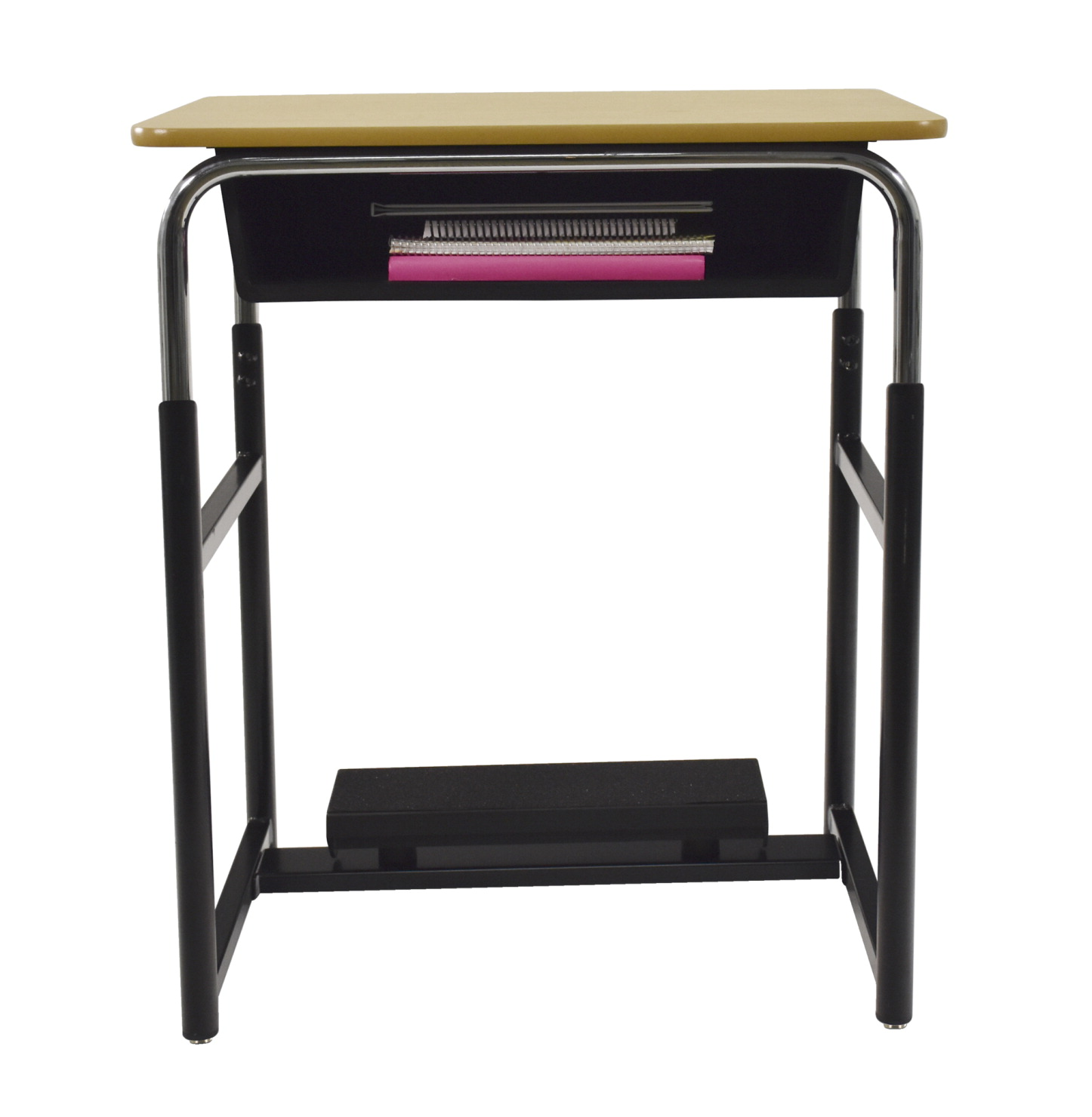 Classroom Select (R) Royal 1600 Switch (TM) Sit or Stand Desk with Fidget Pedal, Hard Plastic Top, Various Options