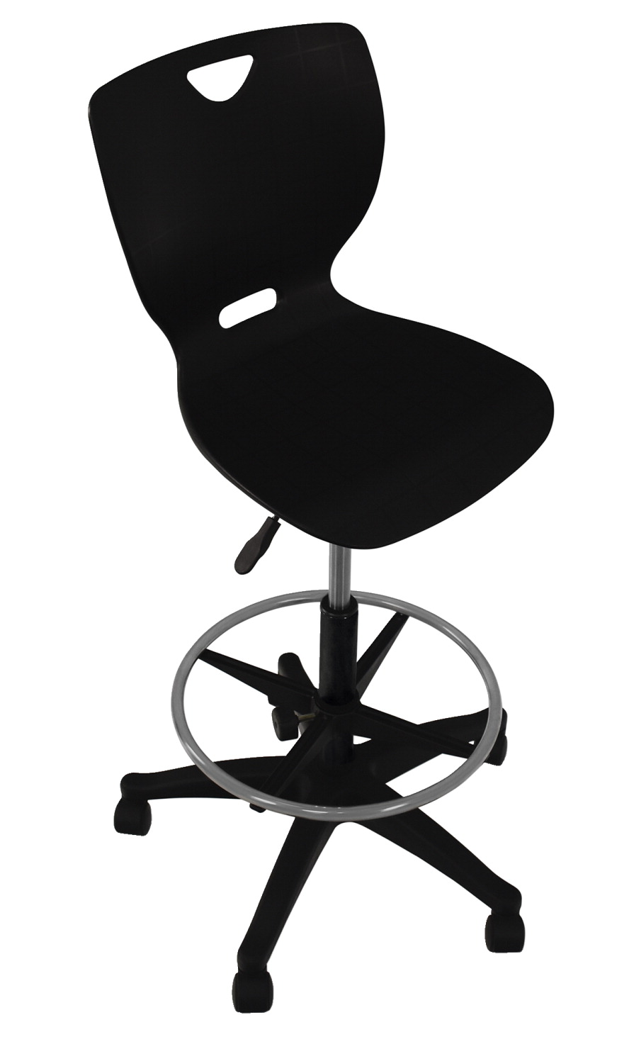 Classroom Select NeoClass Pneumatic Lift Chair with Adjustable Foot Ring, A Shell