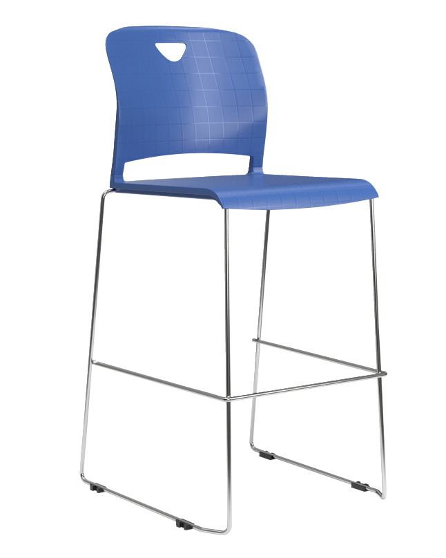 Classroom Select NeoClass Sled Base Stacking Chair, 30 Inch Seat Height, Various Options