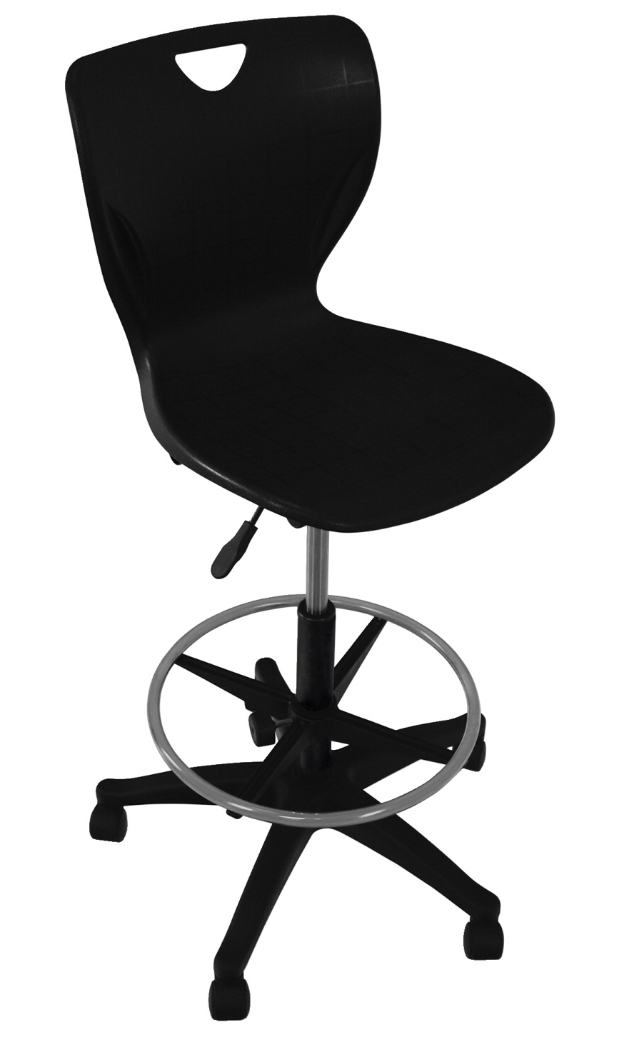 Classroom Select Contemporary Pneumatic Lift Chair with Adjustable Foot Ring, A Shell, Various Options
