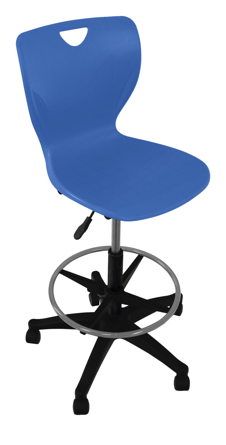 Classroom Select Contemporary Pneumatic Lift Chair with Adjustable Foot Ring, A+ Shell, Various Options