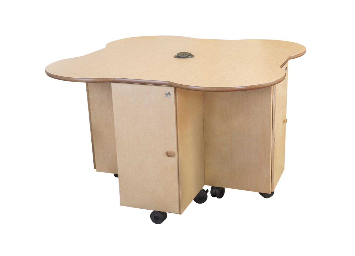 Classroom Select Steam Table, 47 3/4 L x 47 3/4 W x 30 H in