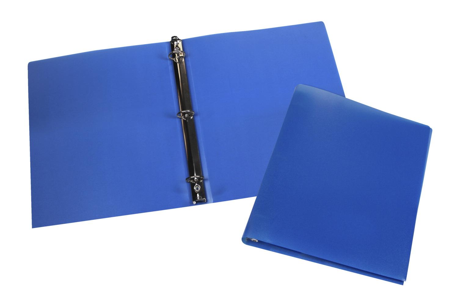 storex economy 0 5 inch poly binder blue pack of 12 soar life