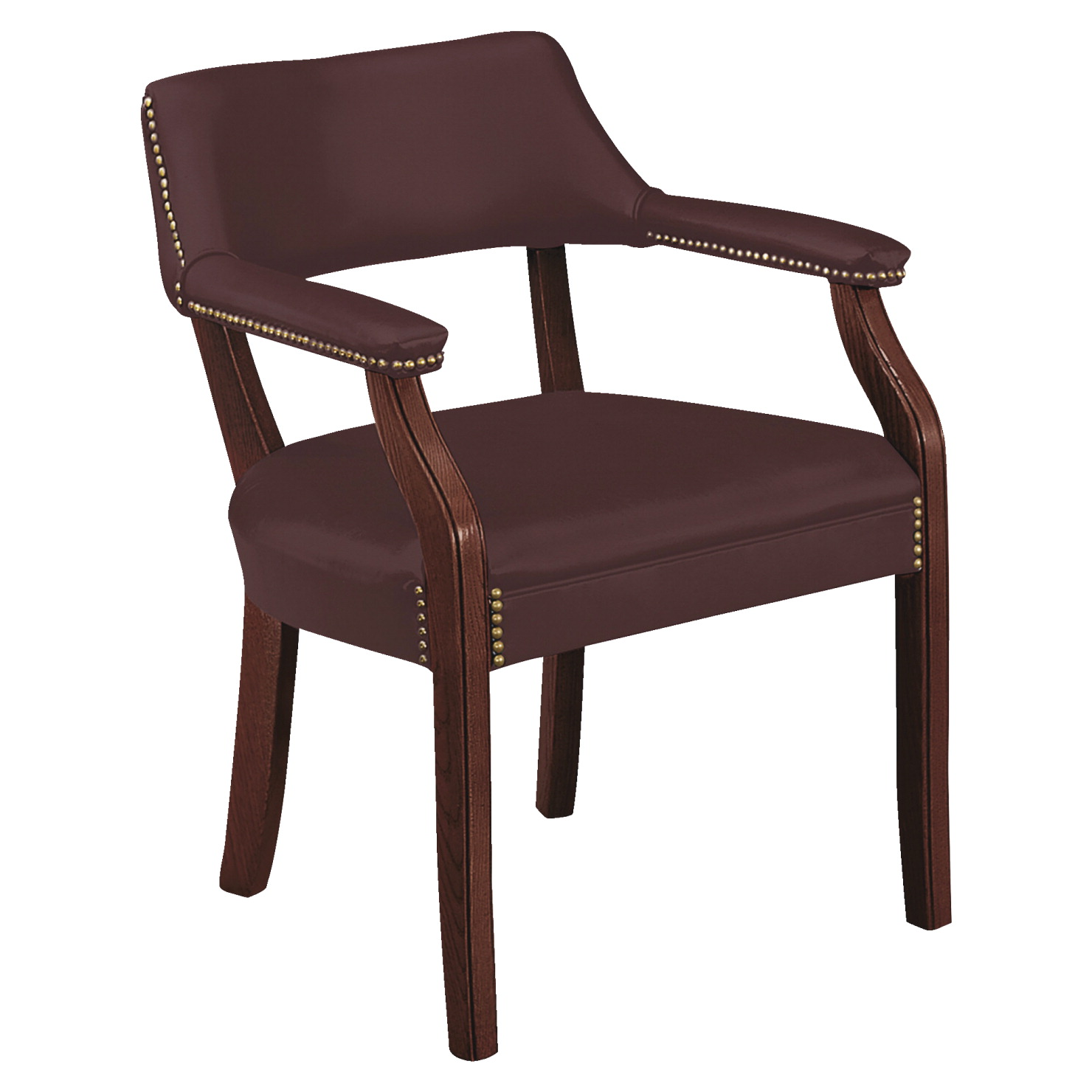 HON Hardwood Frame Guest Chair, Merlot - SOAR Life Products
