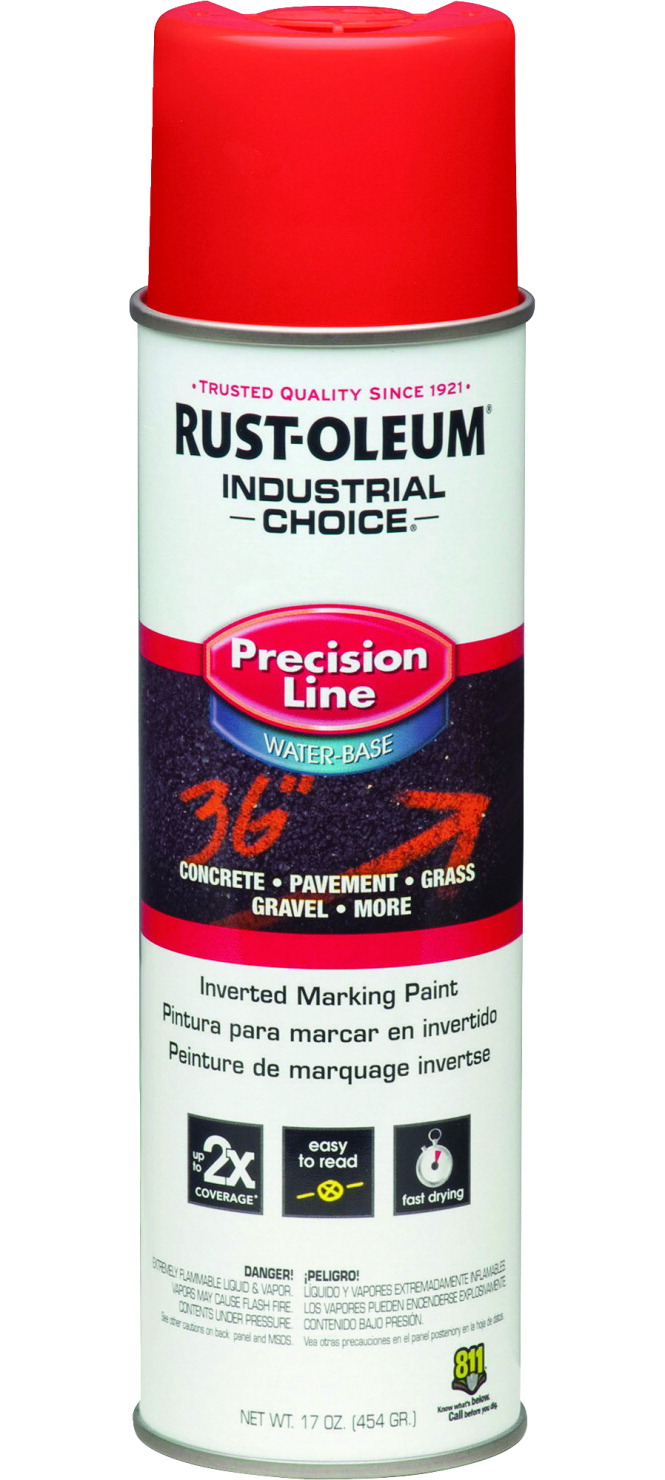 Rust-Oleum Marking Paint Spray, Water-Based, 17 lb, Safety Red