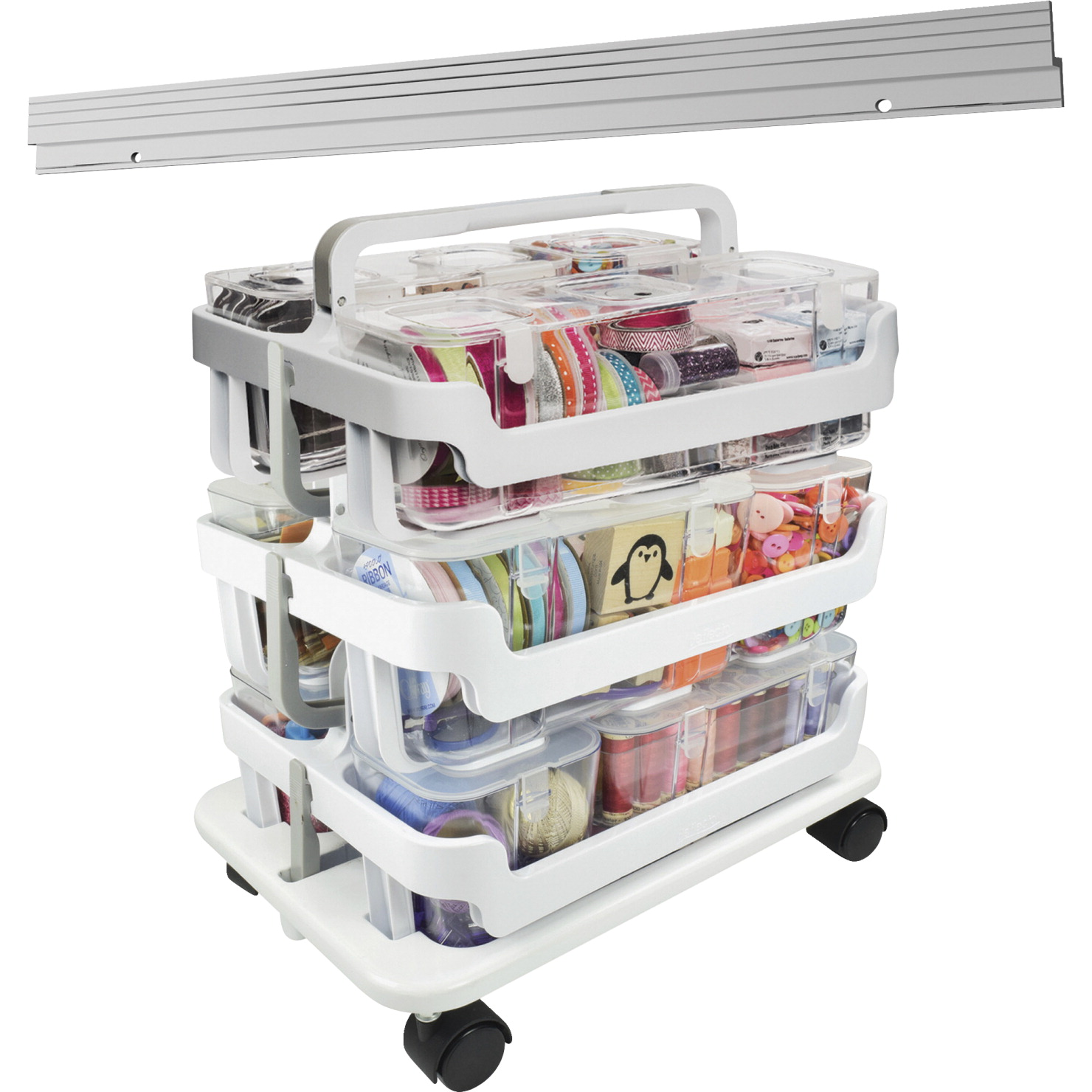 Deflect-o Caddy Organizer System, Stackable, 16 W x 11 L x 22-1/4 Inches H, AST
