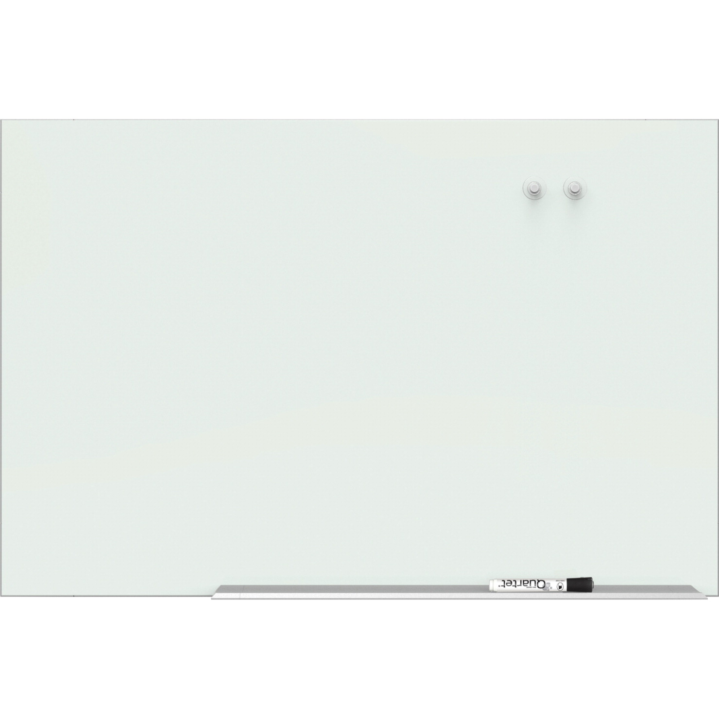 Quartet Element Magnetic Glass Dry-erase Board, 74 x 42 Inches, White