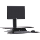 Lorell Sit-to-Stand Electric Desk Riser, Black