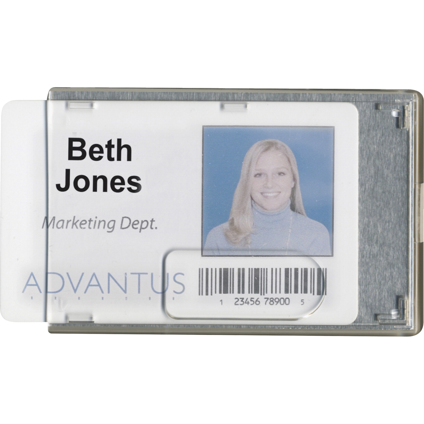 Advantus Badge Holders, RFID Blocking, 3-3/8 x 2-1/8 Inch, Pack of 20, Clear