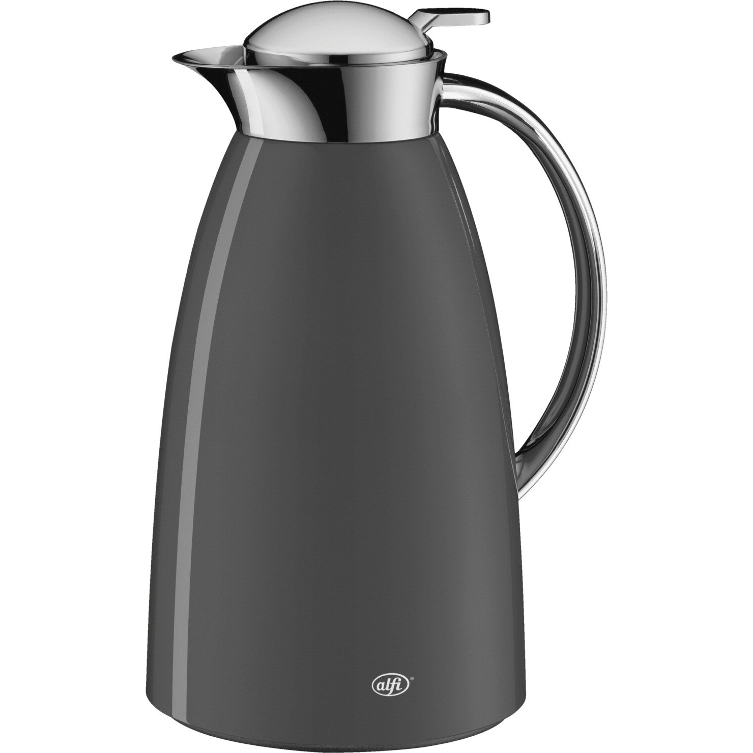 thermos alfi gusto glass vacuum insulated lacquered metal carafe 1 l - Glass Thermos