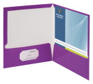 Business Source Two Pocket Folder, Letter, 2-Pkts, 100 Sheets, Pack of 25, Purple