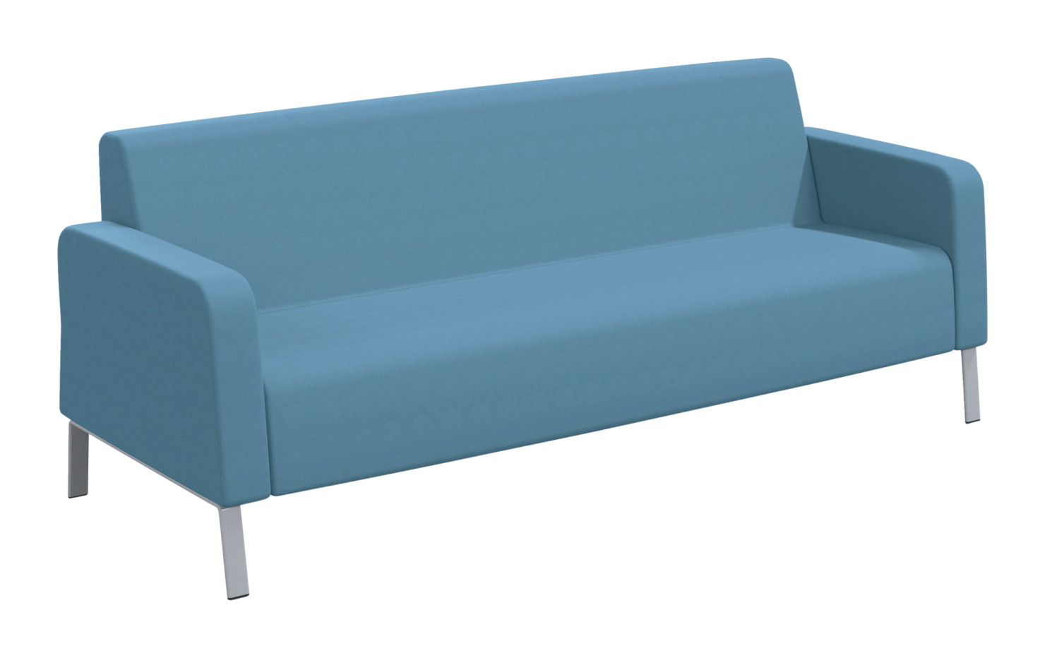Classroom Select Soft Seating Armed Sofa, 86 x 32 x 34 Inches, Various Options