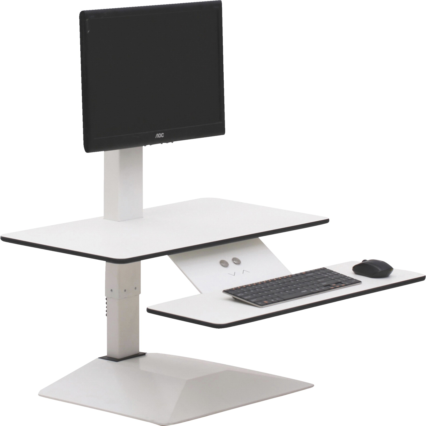 Lorell Sit To Stand Electric Desk Riser White School