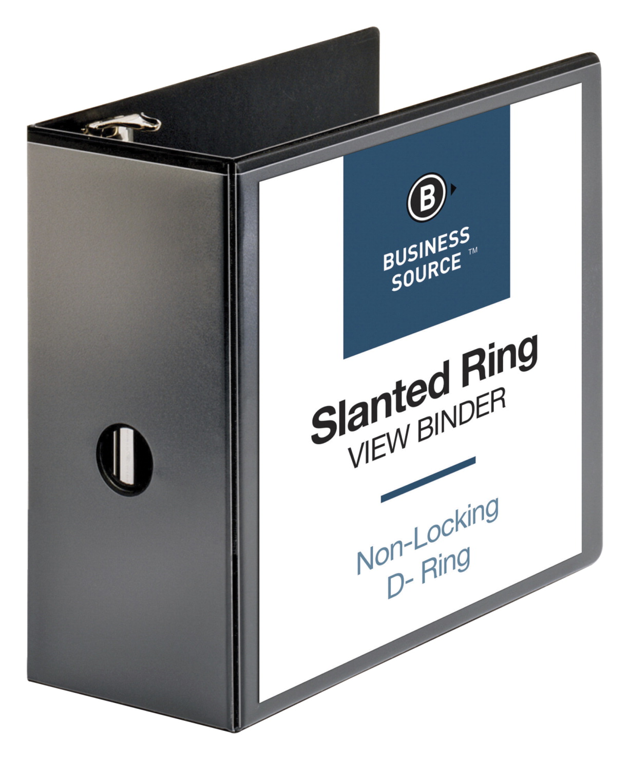 business source d ring view binder black soar life products