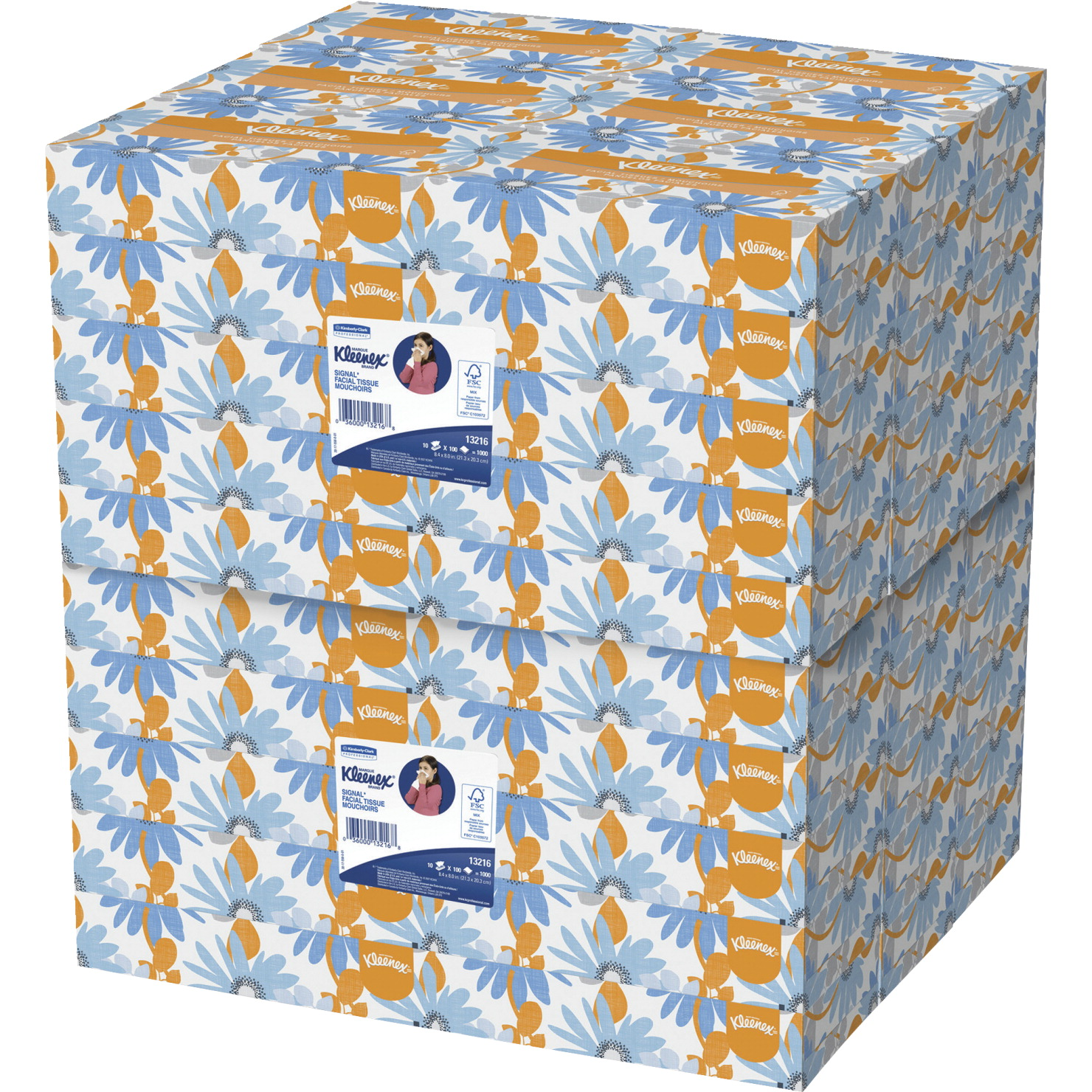Kimberly Clark Facial Tissue Conven Case, 2-Ply, Pack of 60 Boxes, White