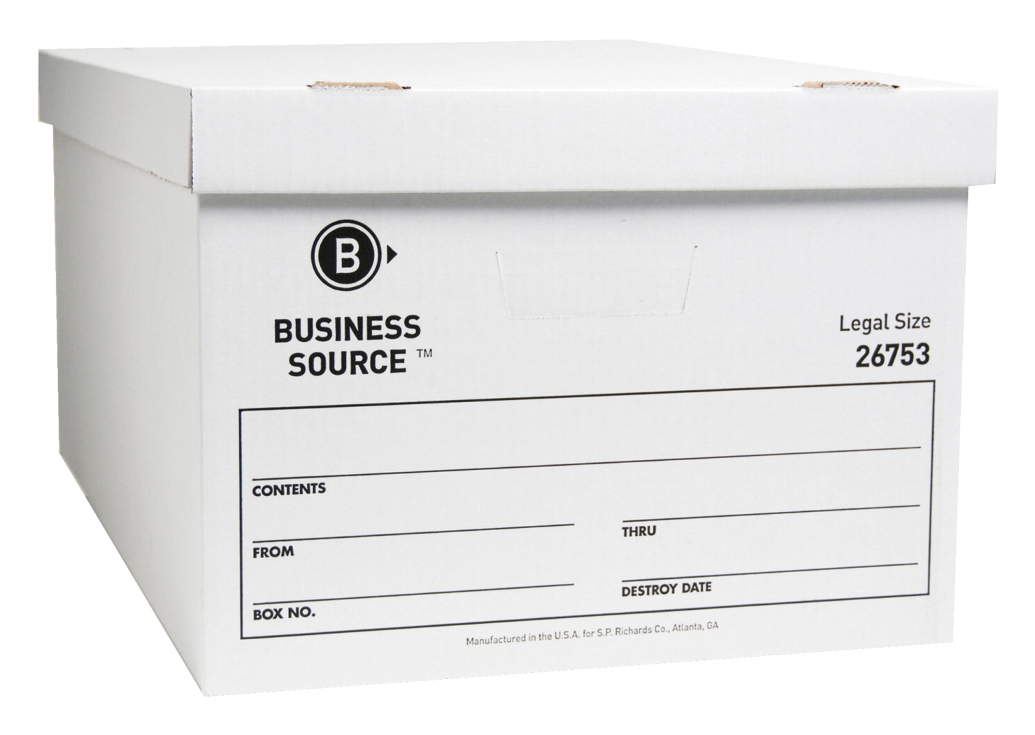 Business Source Storage Boxes, Legal, 500 lb, 15 x 24 x 10 Inches, Pack of  12, White