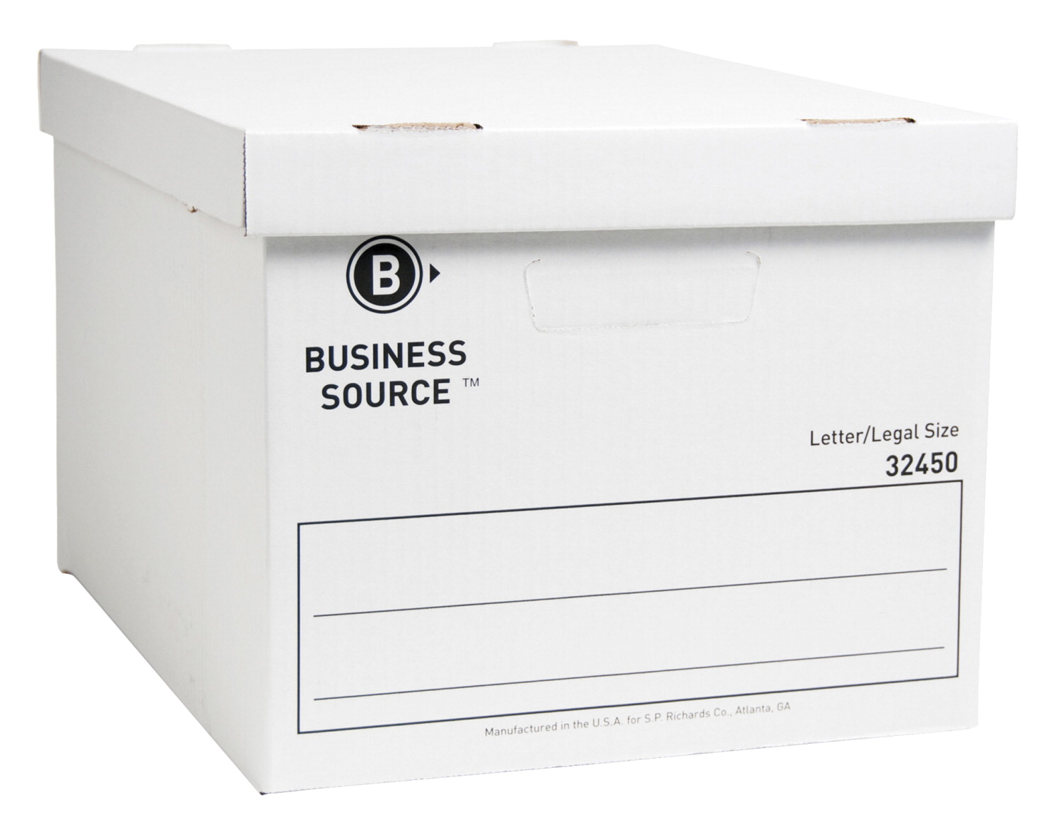 Business Source Storage Boxes, Letter/Legal, 400 lb, 12 x 15 x 10 Inches,  Pack of 12, White