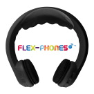 HamiltonBuhl FM Wireless Flex-PhonesAF Headphones, Dual-Channel, Youth, Black