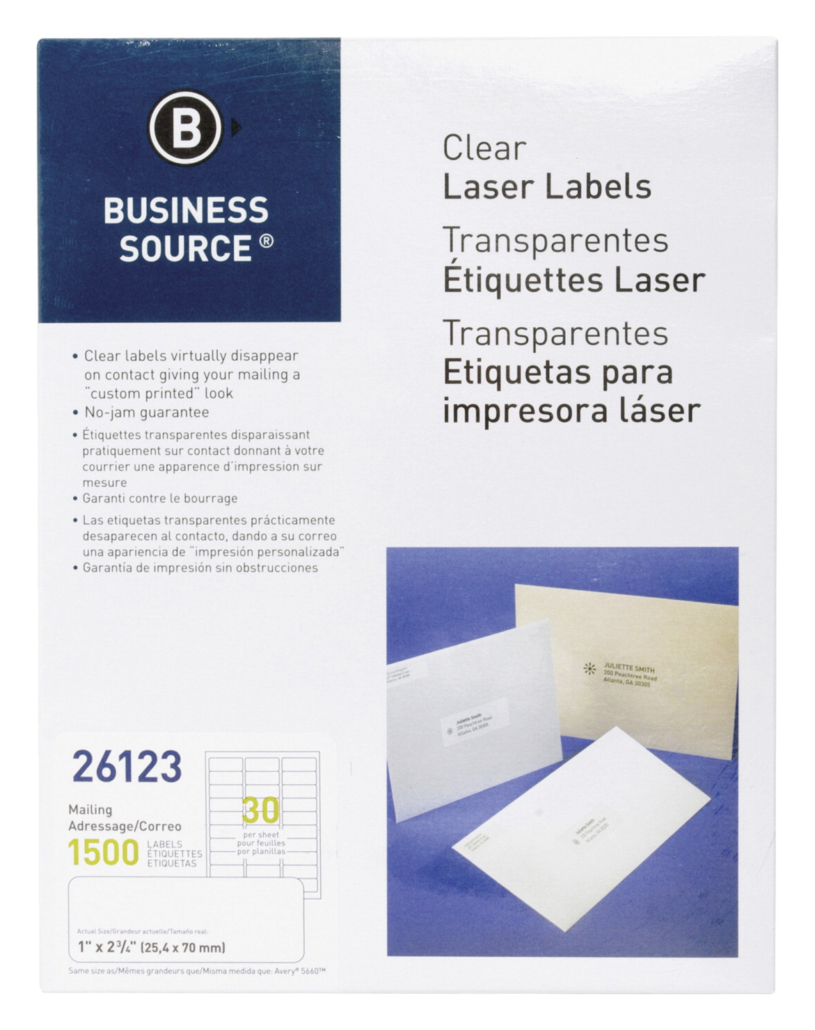 business source mailing labels clear soar life products