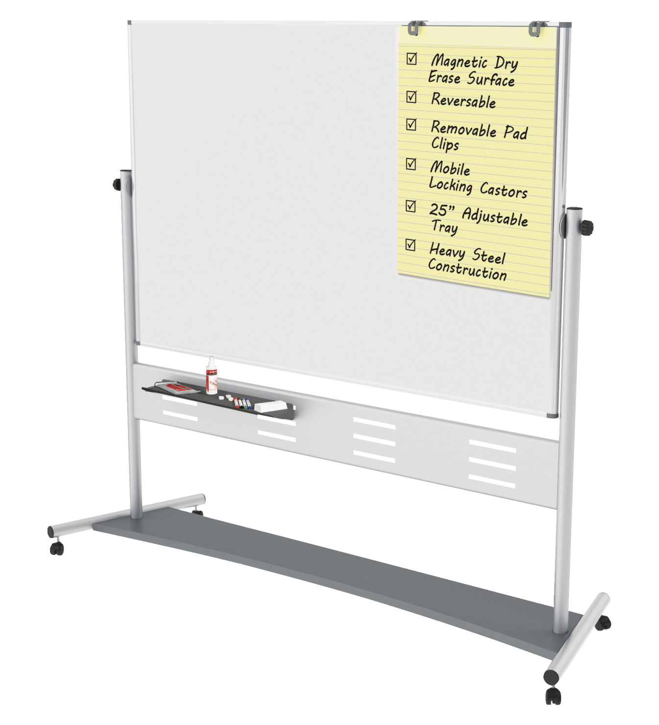 MasterVision Magnetic Dry Erase 2-Sided Easel, 72 x 48 Inches, White