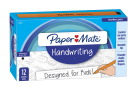 Paper Mate Handwriting Triangle Pen, 0.7 mm, Black Ink, Pack of 12