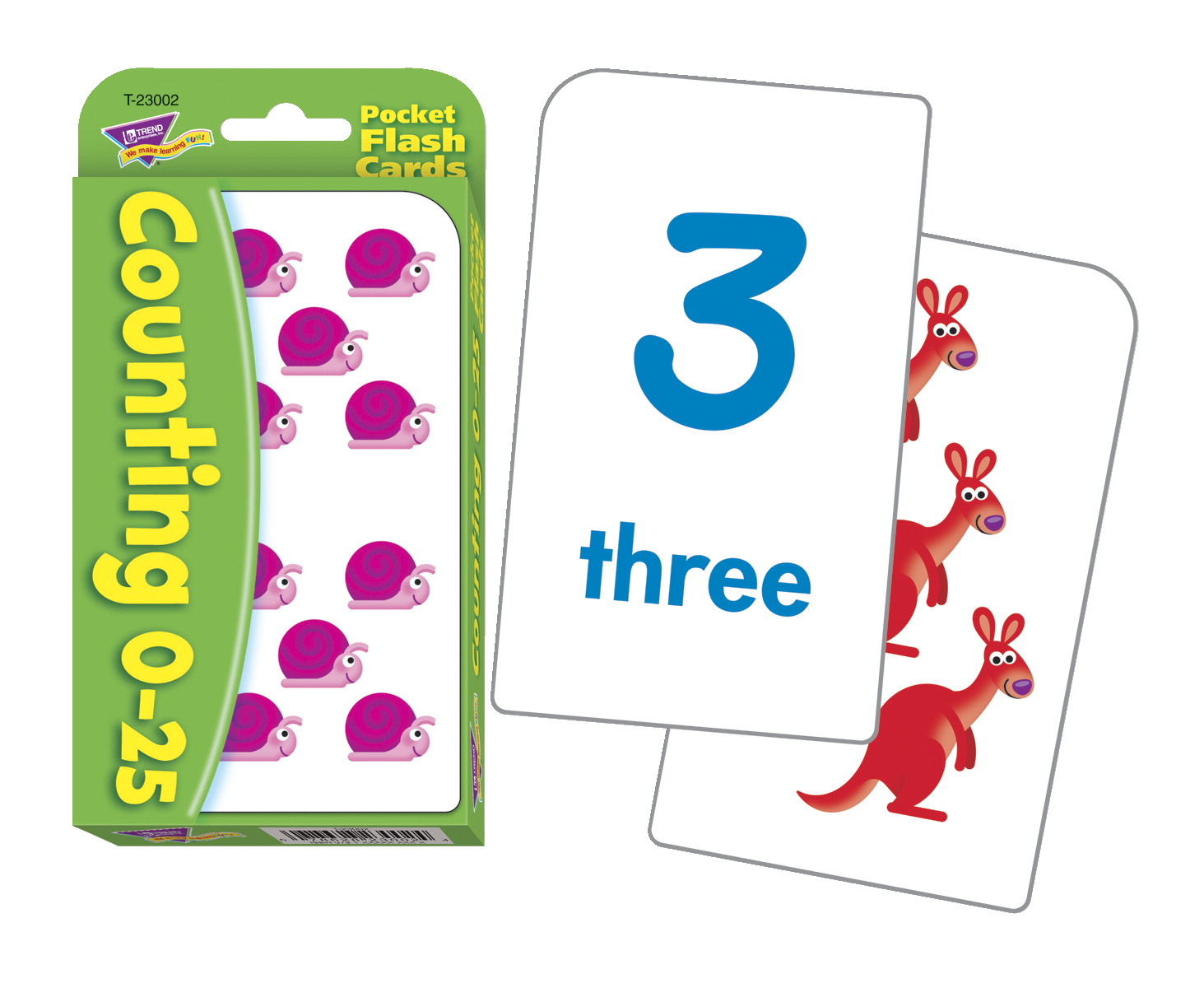 Trend Counting Pocket Flash Cards - 3 1/8 x 5 1/4 - Pack of 56