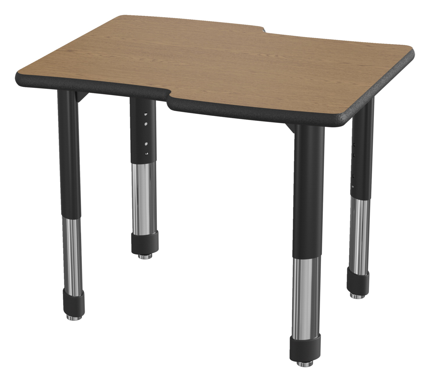 Classroom Select NeoShape Laminate Shaped Desk, LockEdge, Waverly, 30 x 24 Inches, Various Options