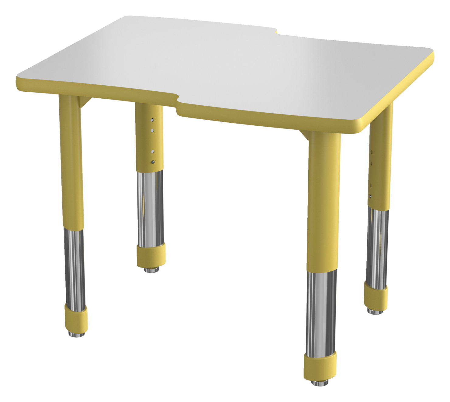 Classroom Select NeoShape Markerboard Shaped Desk, T-Mold, Waverly, 30 x 24 Inches, Various Options