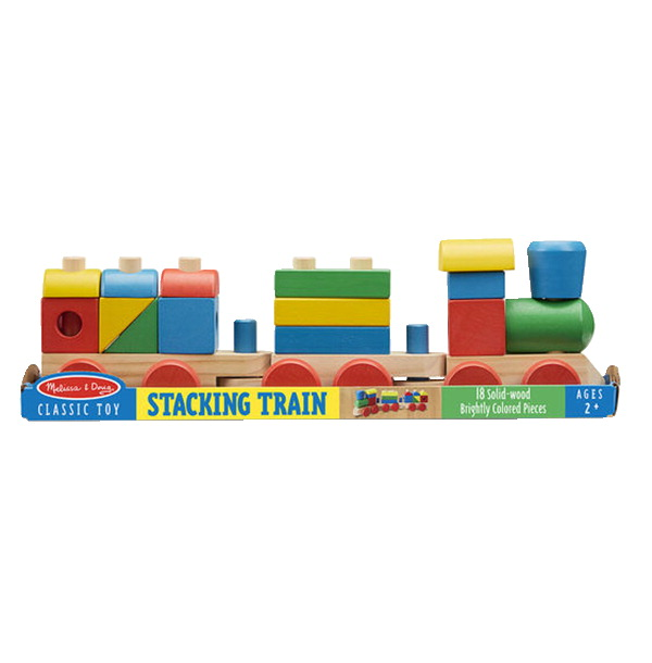 Melissa & Doug Classic Stacking Train, 18 Pieces