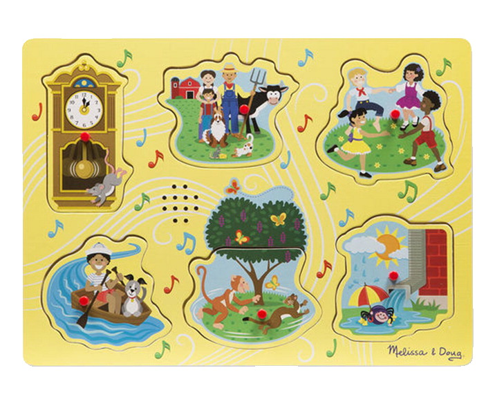 Melissa & Doug Nursery Rhymes Puzzle, 6 Pieces with Sound