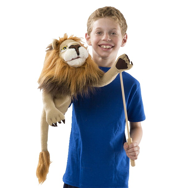 Melissa Doug Rory The Lion Puppet With Wooden Rod