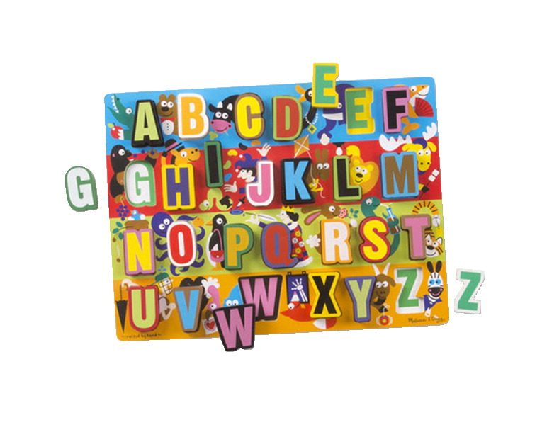 Melissa & Doug Jumbo ABC Chunky Puzzle, 26 Pieces with Board