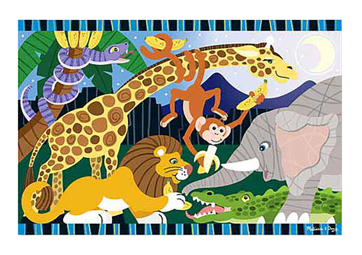 Melissa Doug Safari Social Floor Puzzle 24 Pieces