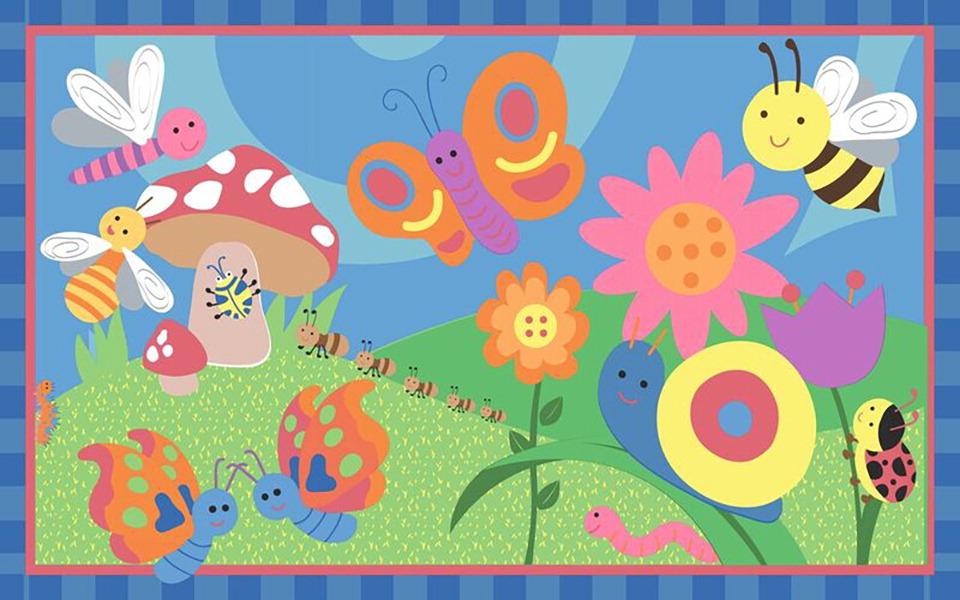 Flagship Carpets Cutie Bugs Pastel - SCHOOL SPECIALTY ...
