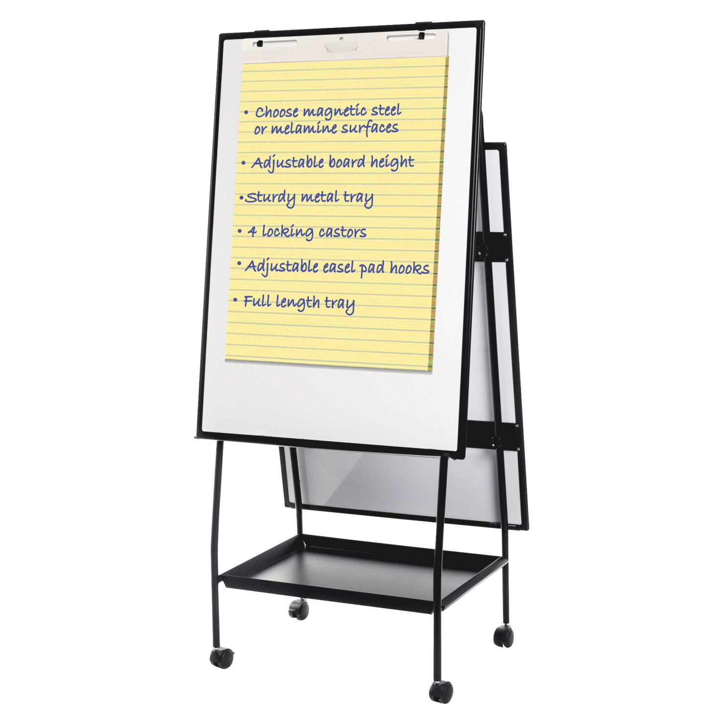 Bi Office Dry Erase Board Easel 36 X 25 X 78 Inches White