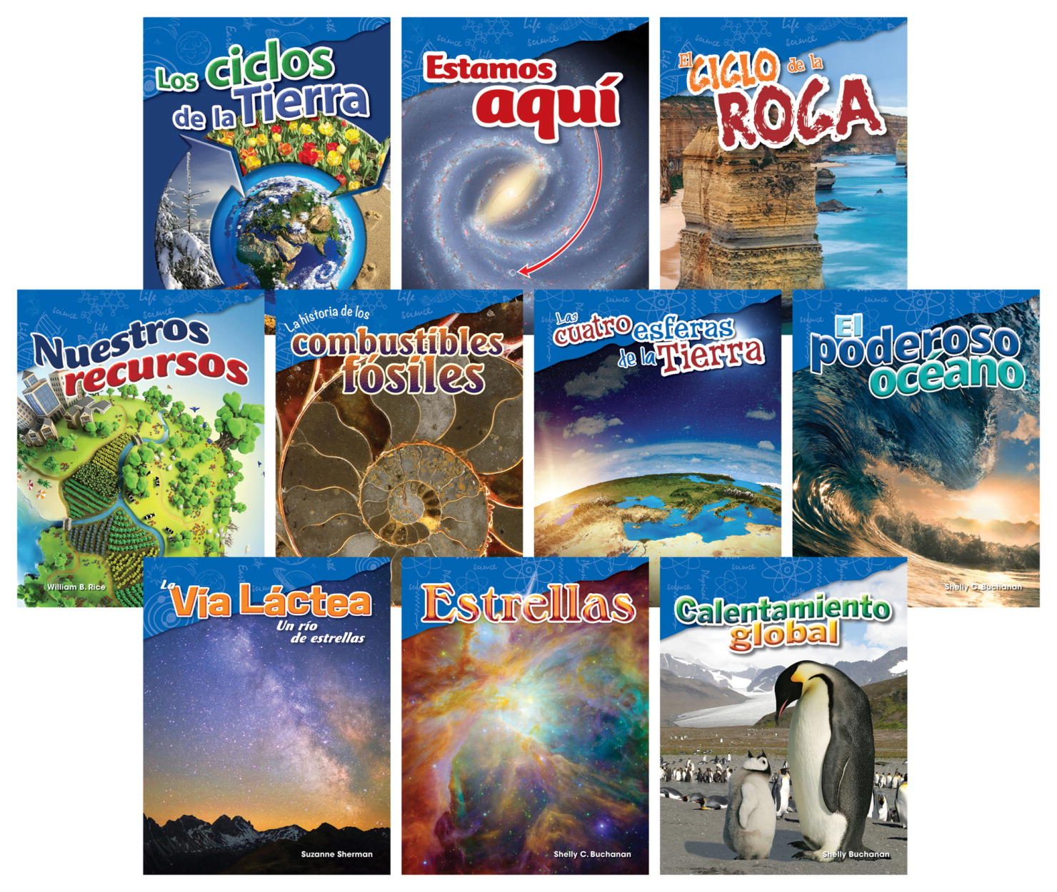 Teacher Created Materials Earth and Space Books, Grades 4 to 5, Spanish, Set of 10