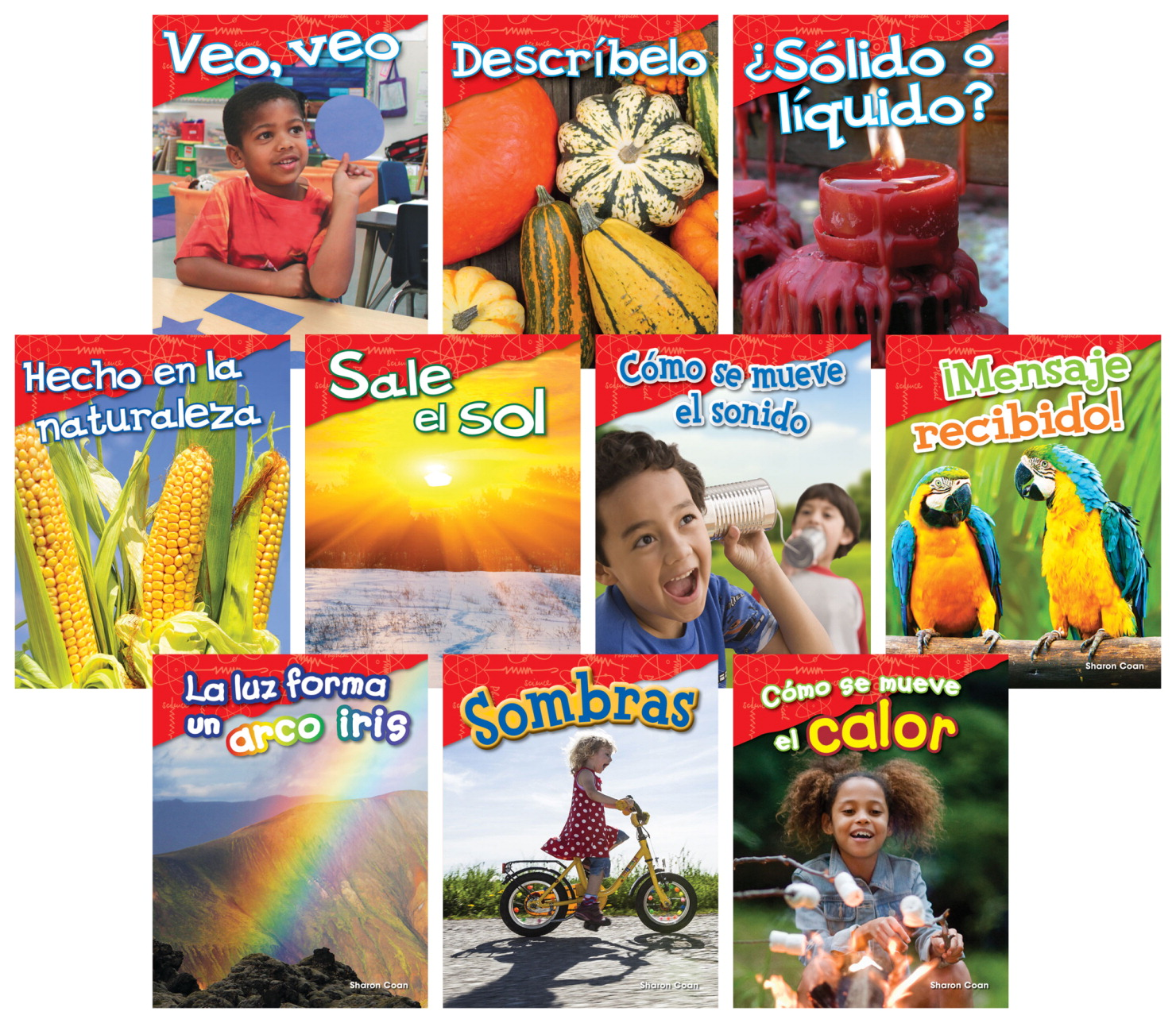 Teacher Created Materials Physical Science, Grades K to 1, Spanish, Set of 10