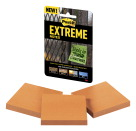 Post-it Extreme Notes, 3 x 3 Inches, Orange, Pack of 3 Pads with 45 Sheets