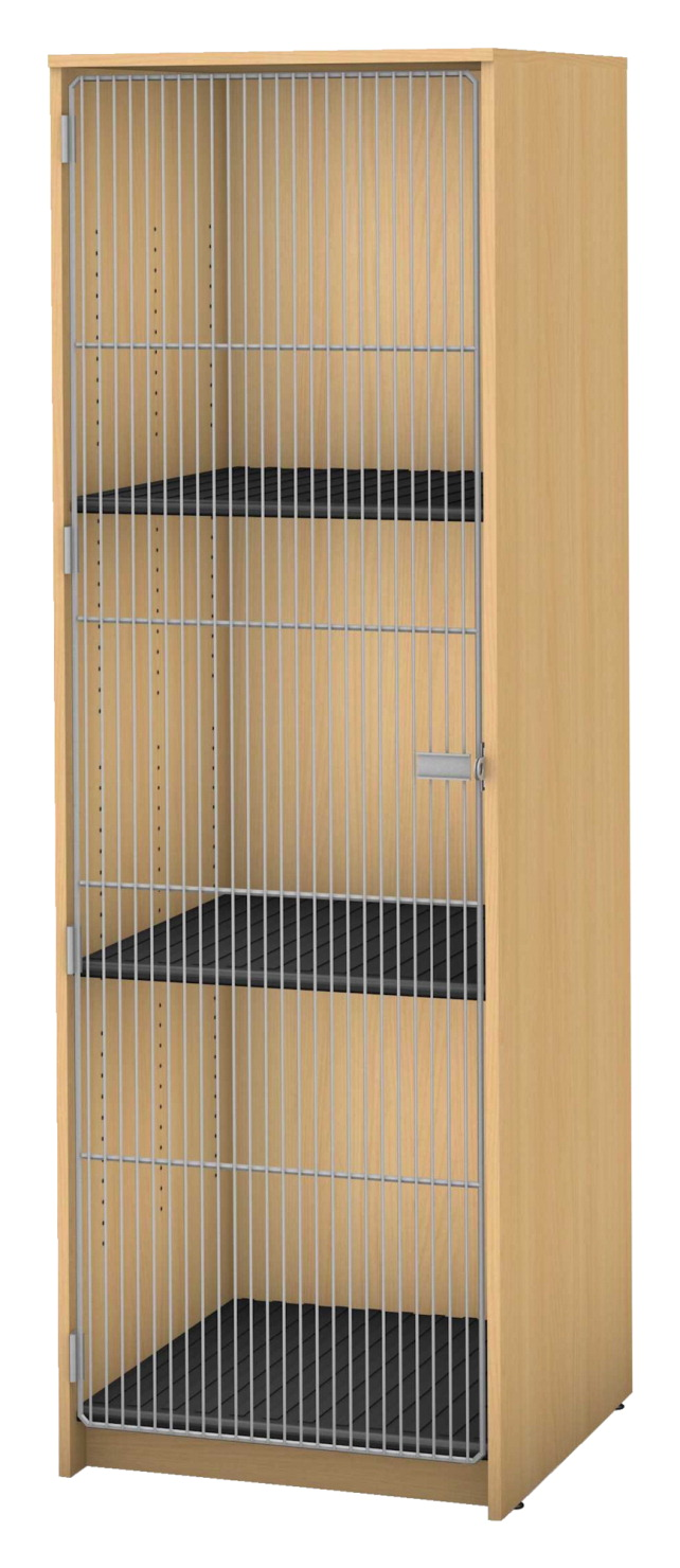 Coordinated Wire | Fleetwood Harmony Instrument Storage 3 Compartments With Wire Door