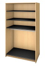 Fleetwood Harmony Rod Garment Storage, No Doors, 3 Shelves, 48 x 30 x 84 Inches, Fusion Maple