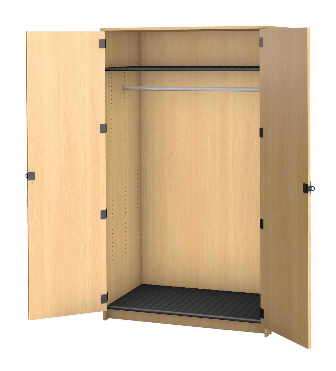Fleetwood Harmony Garment Storage, 2 Doors, 48 x 30 x 84 Inches, Fusion Maple