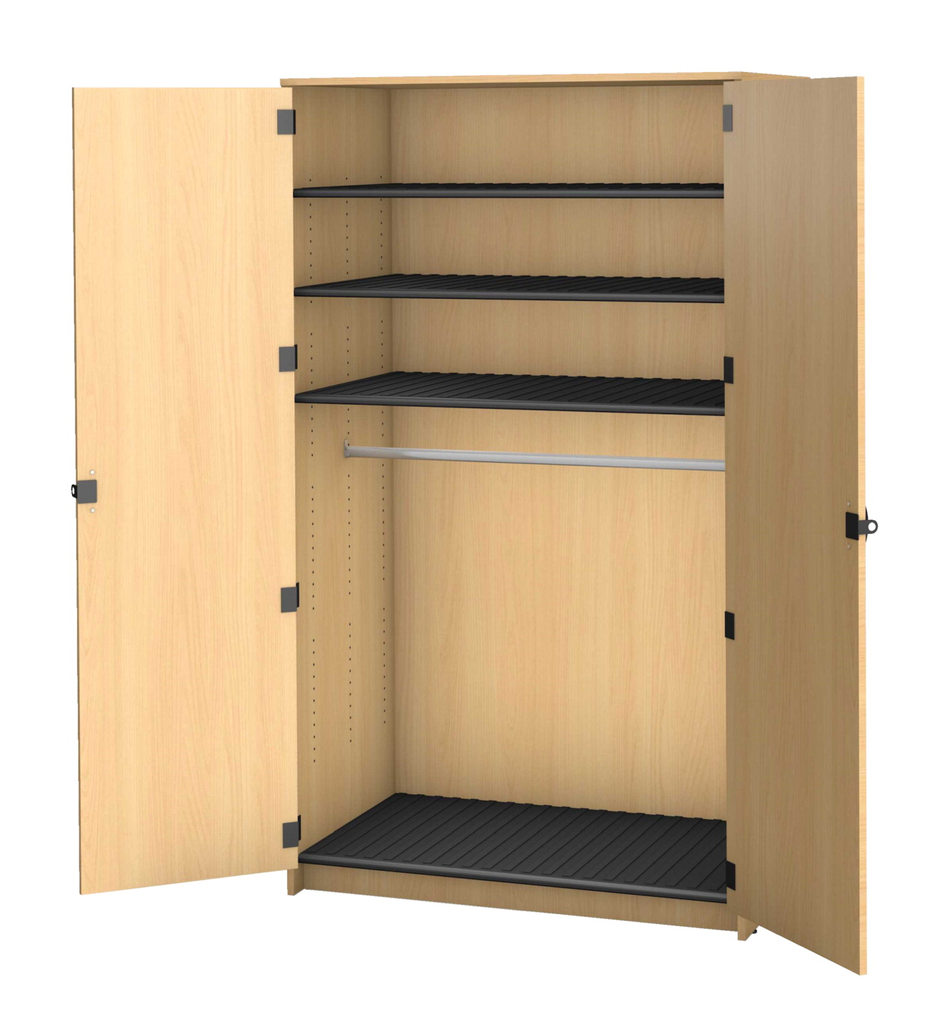 Fleetwood Harmony Rod Garment Storage, 3 Shelves, 48 x 30 x 84 Inches, Fusion Maple