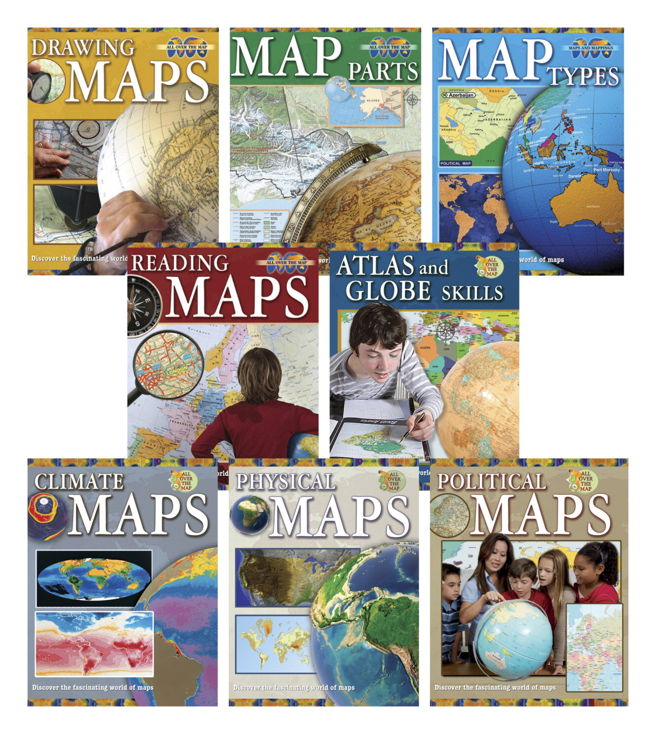 Book set frey scientific cpo science crabtree all over the map softcover set of 8 freerunsca Image collections