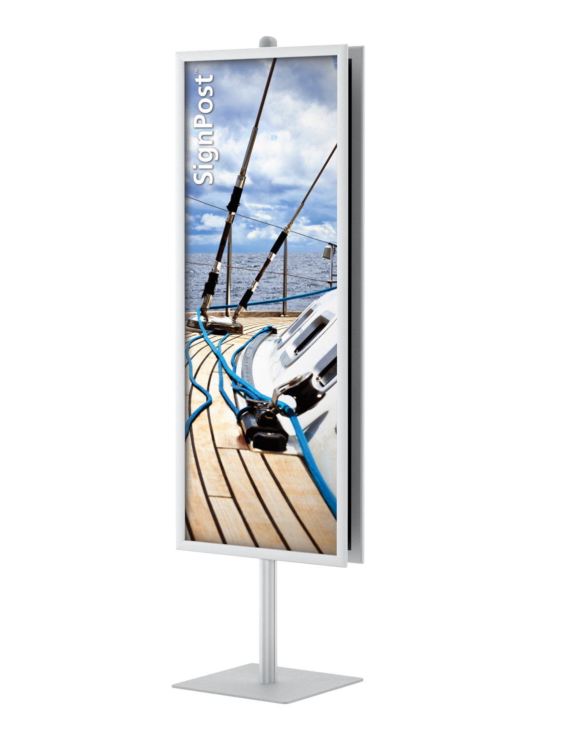 Testrite Visual SignPost 2 sided Sign Frame, Silver - SOAR Life Products