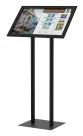Testrite Visual EasyOpen Snap Frame, Dual Upright Pedestal Stand
