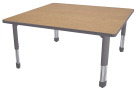 Classroom Select NeoShape Laminate NeoClass Leg Activity Table, T-Mold, Square, 42 x 42 Inches, Various Options