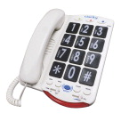 Clarity Amplified Corded Telephone with Talk Back Numbers and Braille Characters